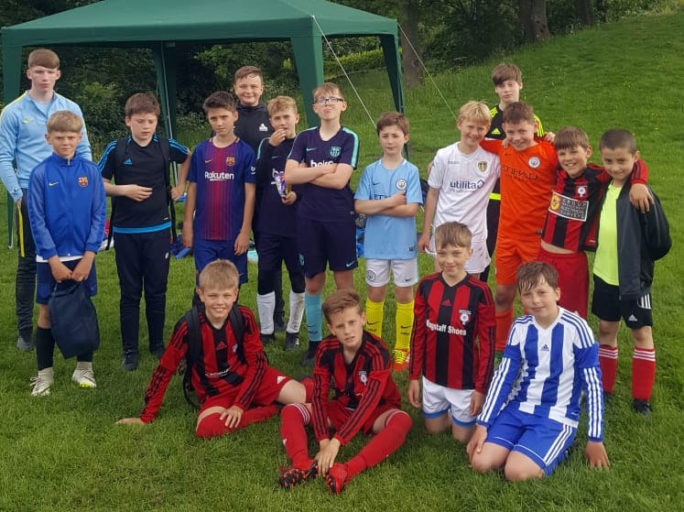 Half-term football camp provides quality coaching for Holmfirth Town players
