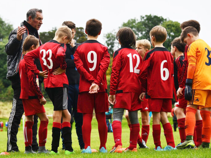 Holmfirth Town coaches in training