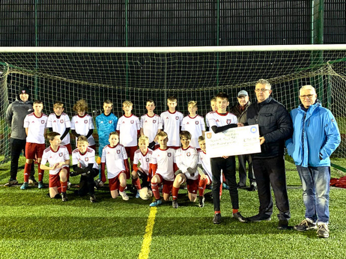U13s attract sponsorship for new away shirt