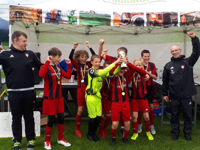 U12's winners at Gildersome 6-a-side tournament