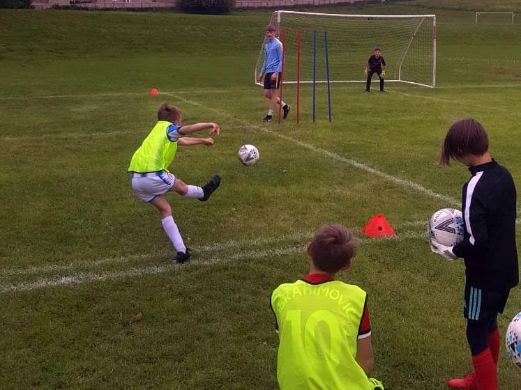 Free-kicks at half-term-training camp