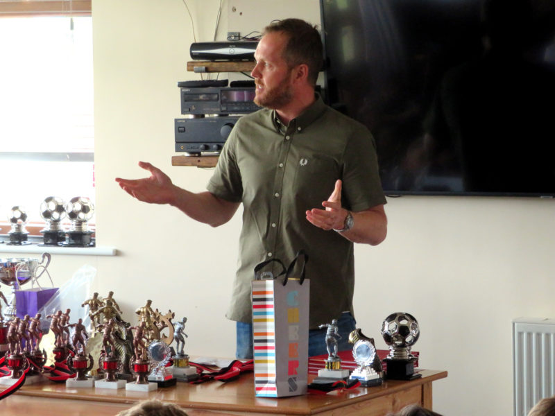 Ben presents the Under 11's 1st Team awards