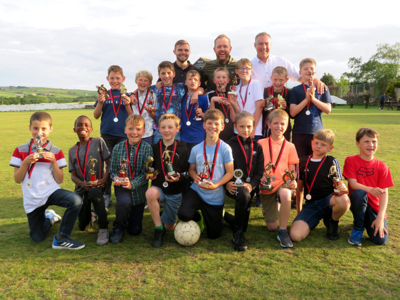 Proud Under 11's with their awards