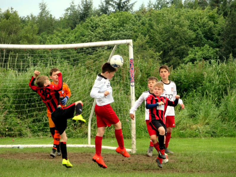 U10's last ditch defending in PPG Cup