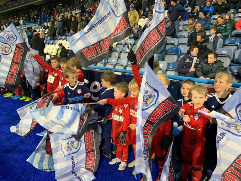 Under 8's Guard of Honour at Huddersfield Town