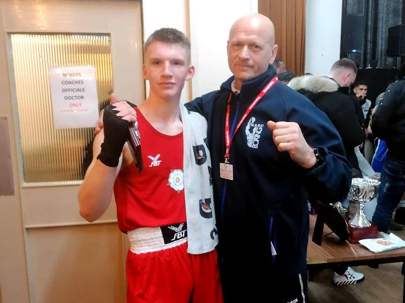 Goalkeeping coach, Rylee Weatherhead, wins county boxing debut
