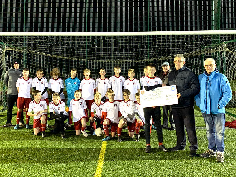 U13s attract new sponsorship for new away shirt