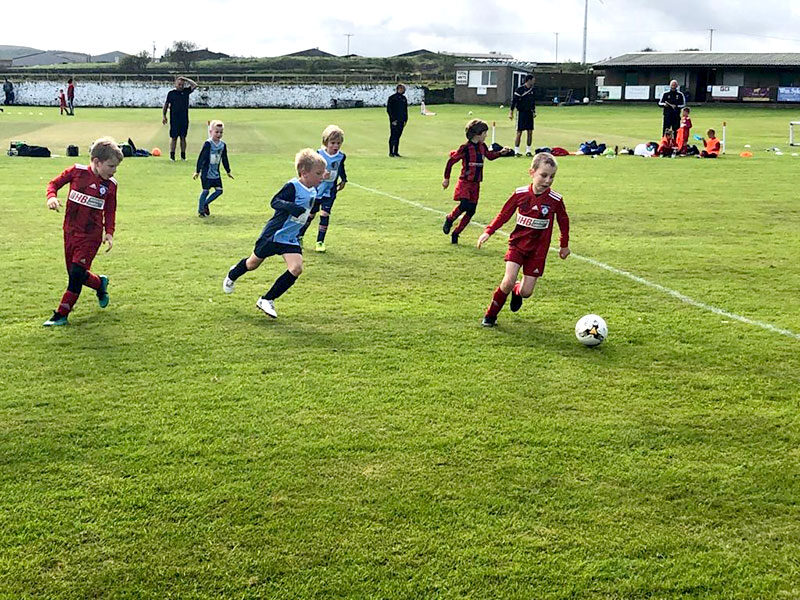 Holmfirth Town Under 7`s played Kirkburton Juniors in a pre-season friendly ensuring all health and safety guidelines were observed